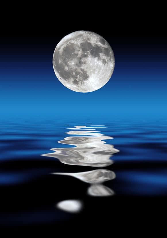 The Moon and its reflection